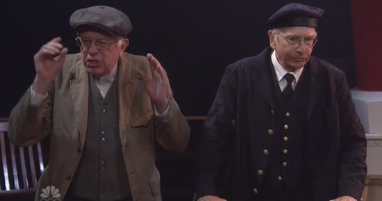 Larry David and Bernie Sanders Spoof 'Titanic' and 'Curb Your Enthusiasm' on 'Saturday Night Live': Watch