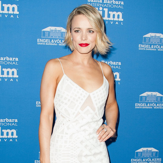Rachel McAdams in a White Self-Portrait Dress
