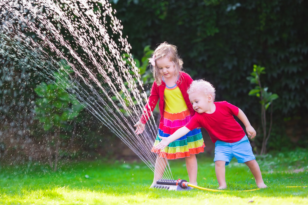 Kids Play Sprinkler