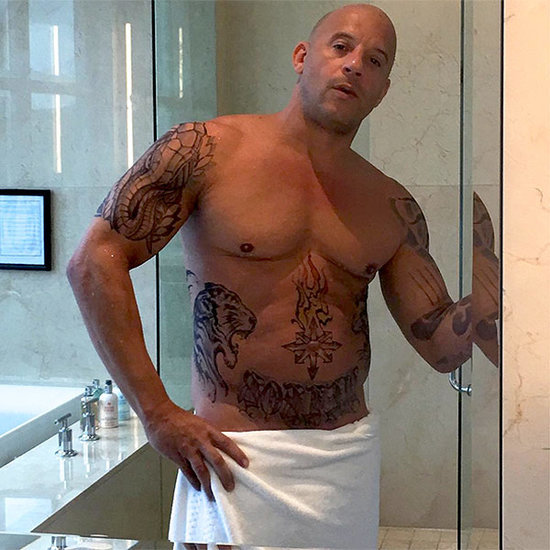 Vin Diesel Posts Shirtless, Tattooed Shower Photo 'in Character' for New Action Role