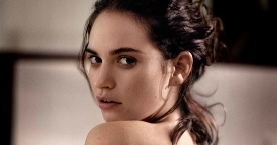 'Cinderella' Star Lily James Goes Topless For Town & Country
