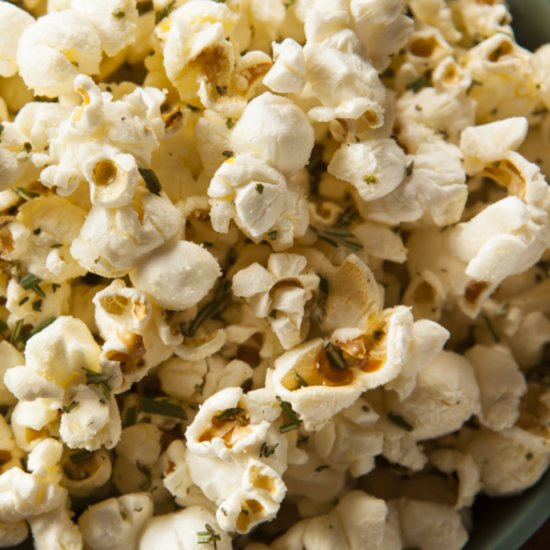 You Won't Be Able to Put Down This Homemade Rosemary Popcorn