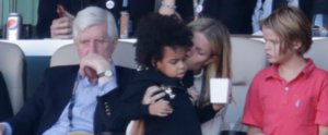 Gwyneth Paltrow Plays Babysitter For Blue Ivy at the Super Bowl