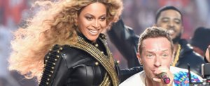 Watch Beyoncé Enjoying the Hell Out of Coldplay's Super Bowl Performance
