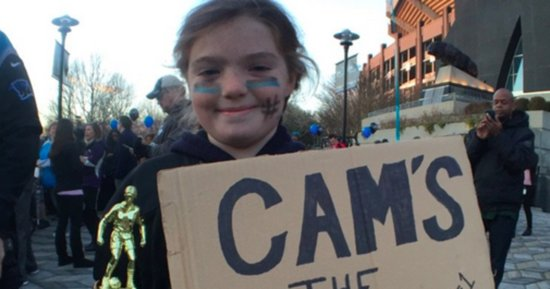 Young Fan Hopes To Heal Cam Newton's Broken Heart With Her Own Trophy