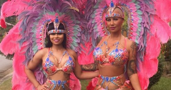Amber Rose And Blac Chyna Party Hard In Feathered Bikinis At Carnival