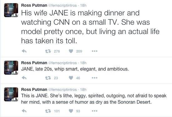 Producer's Tweets Reveal How Scripts Depict Women