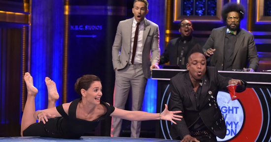 Katie Holmes Shocks Everyone During 'Musical Beers'