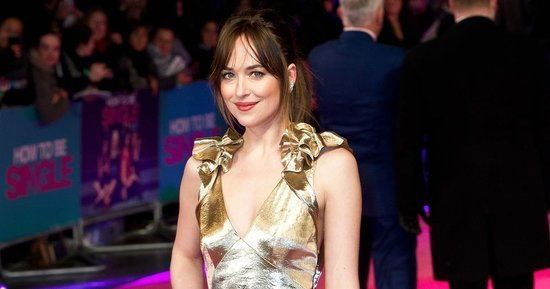 Dakota Johnson Is a Golden Goddess on the Red Carpet: See Her Metallic Style!