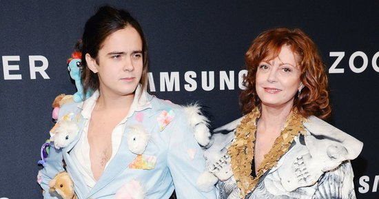 Er, Check Out Susan Sarandon's Son Miles Robbins' Crazy Red Carpet Outfit