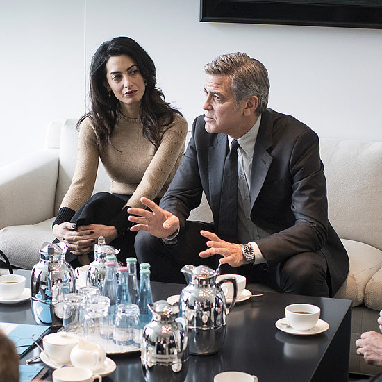 Amal Clooney Wearing a Black Coat in Berlin