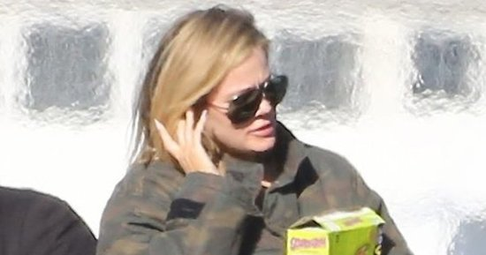 Khloe Kardashian Wears Lamar Odom's Jacket as They Fly Back to L.A. Together: Photo