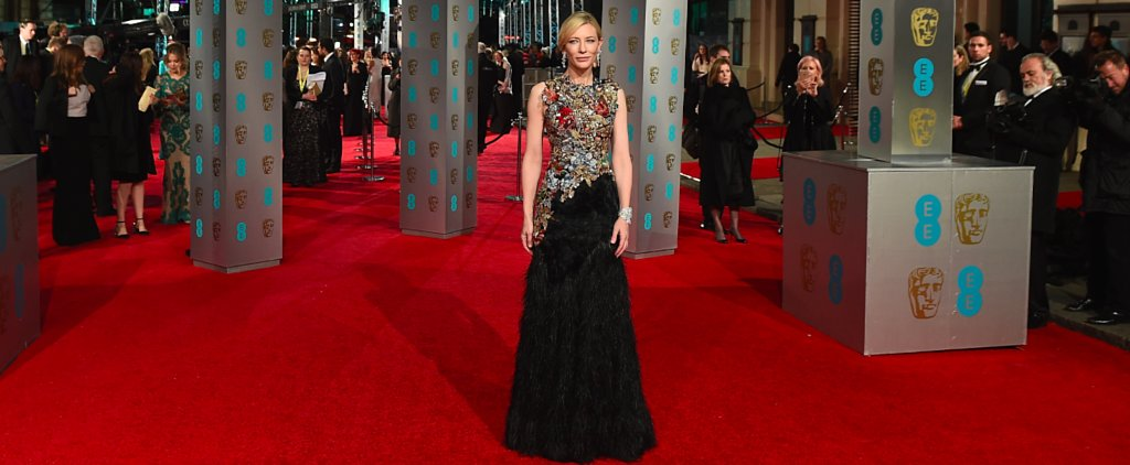 Cate Blanchett Is an Embellished Goddess at the BAFTA Awards