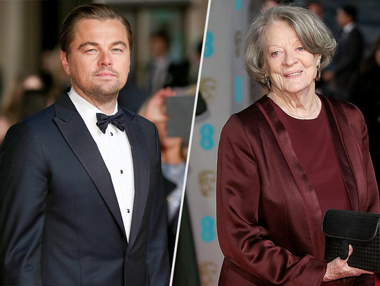 Leonardo DiCaprio Shares a Smooch with Maggie Smith on the BAFTAs Kiss Cam - but Not Everyone Is into It