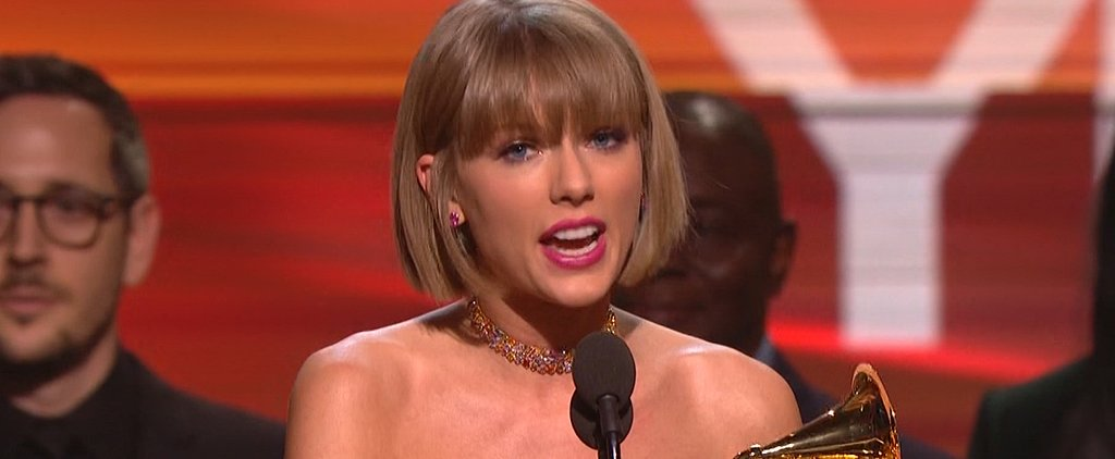Taylor Swift Uses Her Grammys Win to Blast Her Haters (Ahem, Kanye!)