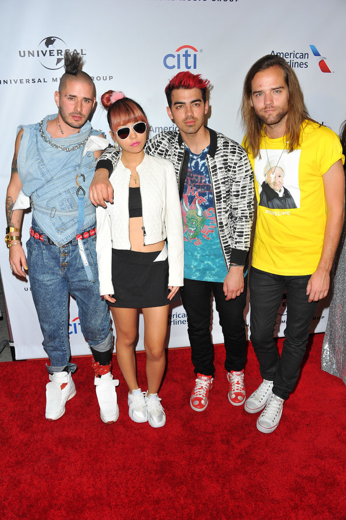 Pictured: Joe Jonas, Jack Lawless, Cole Whittle, and JinJoo Lee