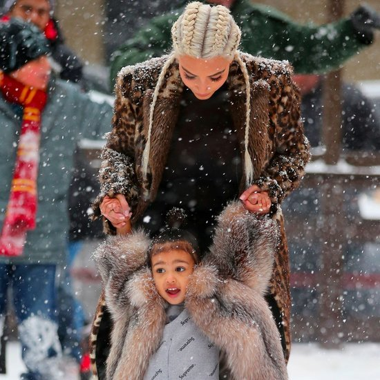 Kim Kardashian and North West Ice Skating in NYC Pictures