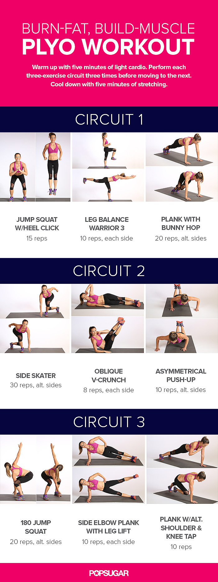 The Workout | Burn-Fat, Build-Muscle Plyo Workout ...