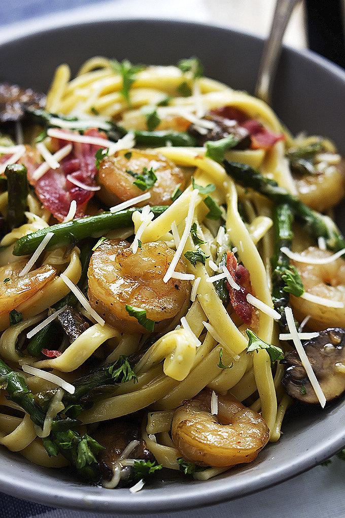 Shrimp Asparagus Carbonara   25 Lip-Smackingly-Good Recipes That ...