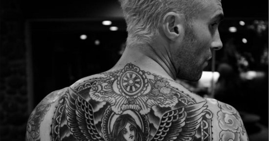 Adam Levine's Massive Back Tattoo Is A Mythological Work Of Art