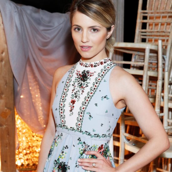 Dianna Agron's Yellow-Gold Engagement Ring Style