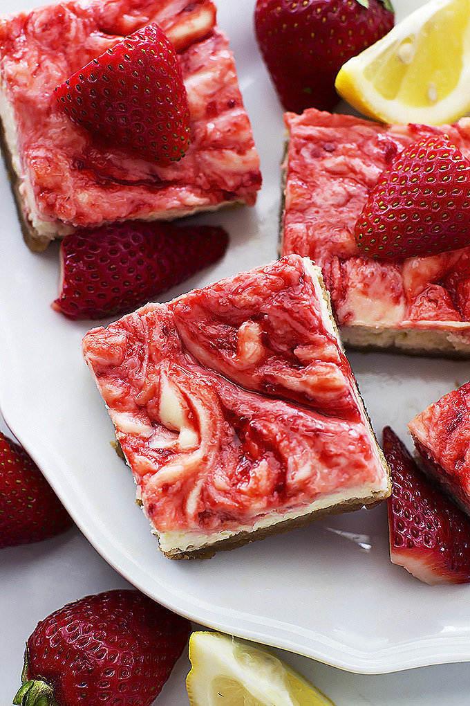 Strawberry Lemon Cheesecake Bars | 35 Gorgeous Strawberry Desserts You ...