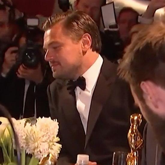 Leonardo DiCaprio Jokes While Getting Oscar Engraved 2016