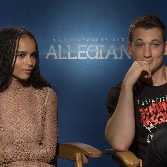 Zoë Kravitz and Miles Teller Talk Allegiant (Video)