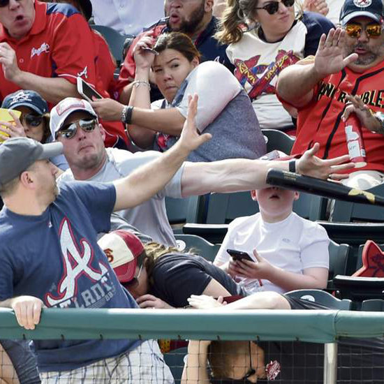 Fan Saves Boy From Flying Bat at Spring Training