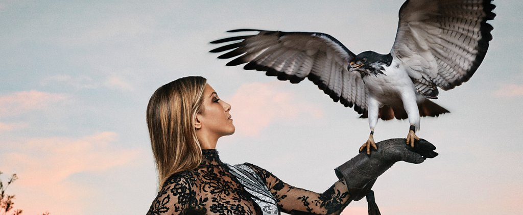 Our New Life Goal Is to Be as Fierce as Jennifer Aniston Holding an Eagle in a Gown