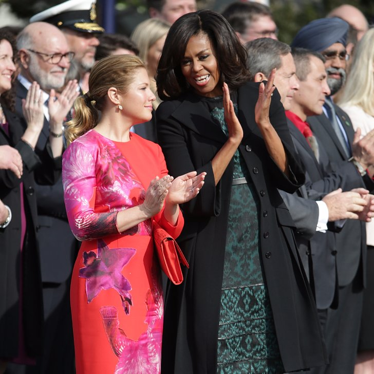Michelle Obama Wearing A Green Dress March 2016