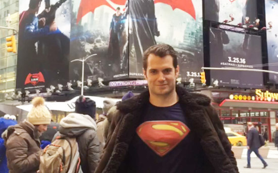 FROM EW: Henry Cavill Proves 'the Glasses Are Good Enough' Disguise for Clark Kent
