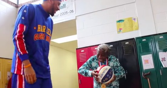 Centenarian Who Danced At The White House Cuts A Rug With Harlem Globetrotters