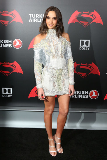 Gal Gadot Balmain Dress at Batman v Superman Premiere 2016