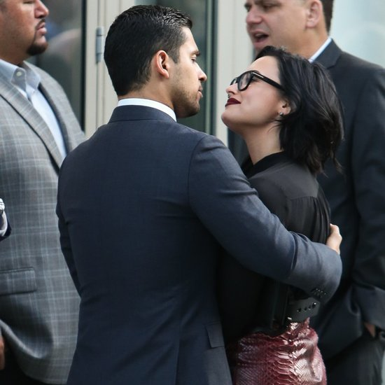 Demi Lovato and Wilmer Valderrama PDA March 2016