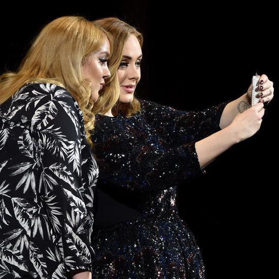 Adele Takes Selfie With Look-Alike Fan March 2016