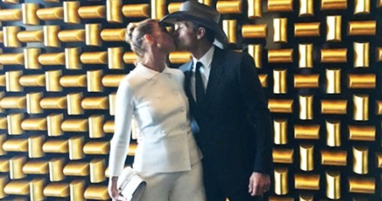 Faith Hill and Tim McGraw Share Passionate Kiss Ahead of 2016 ACM Awards: See the Photo Here