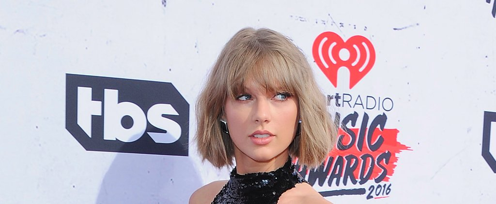Taylor Swift Makes Grown-Out Bangs Look Chic at the iHeartRadio Music Awards