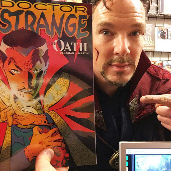 Poof, There He Is: Benedict Cumberbatch Makes Surprise Appearance in Costume as Doctor Strange at N.Y.C. Comic Shop