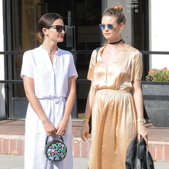 Behati Prinsloo and Lily Aldridge Street Style