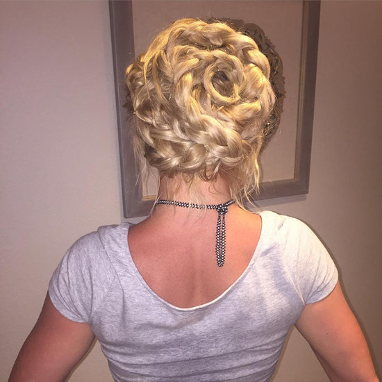 Britney Spears's Braided Hairstyle on Instagram