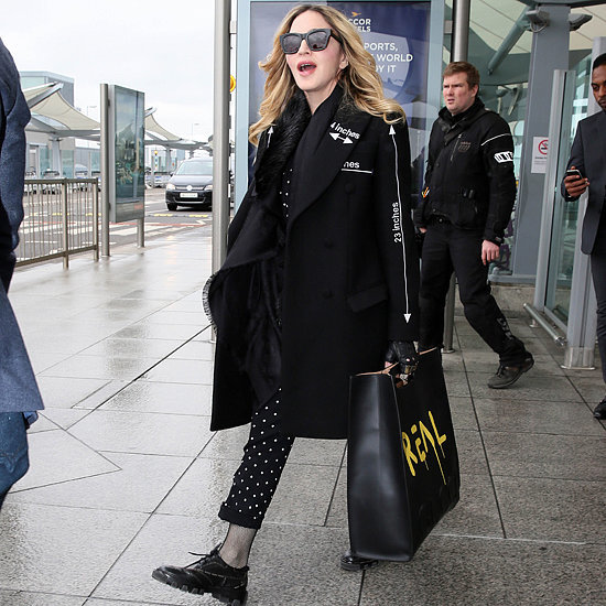Madonna Carries the Fall '16 Gucci Bag That's Covered in Graffiti