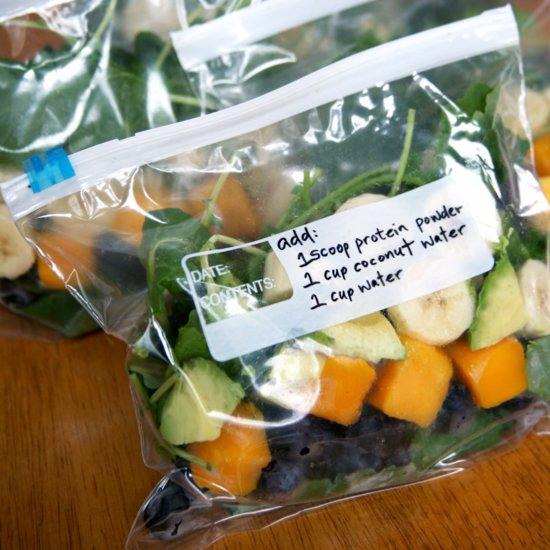 How to Prep Week of Smoothie Freezer Packs