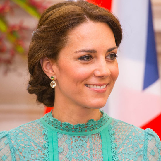 Duchess of Cambridge in Green Lace Temperley Dress
