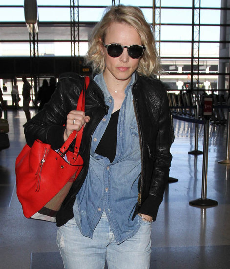 Rachel McAdams at LAX and arriving in Japan as Doctor Strange trailer is released