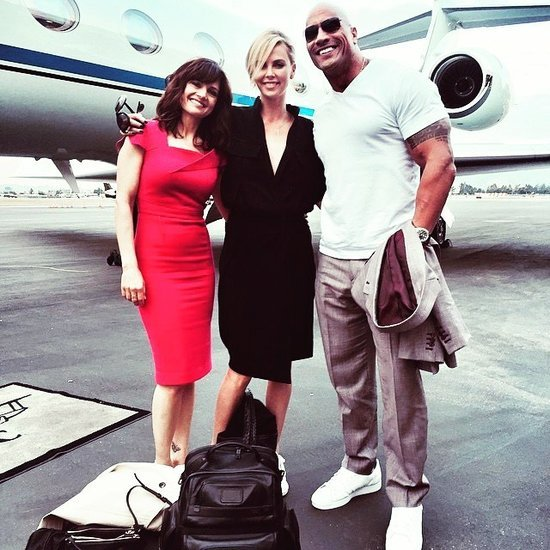 Dwayne Johnson Instagrams a Picture With Charlize Theron