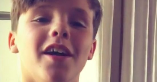 Victoria Beckham's Son Cruz Is Pitch Perfect In Adorable Video