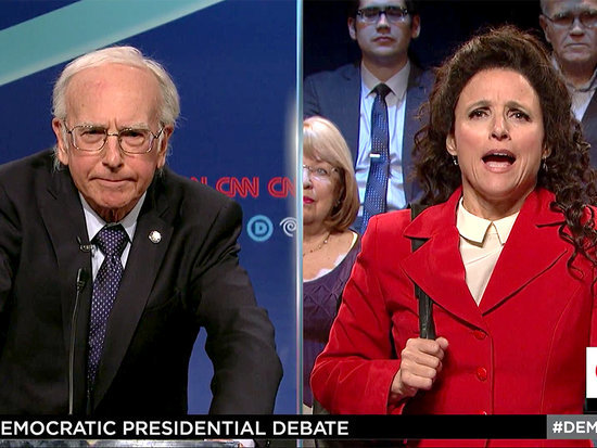 Julia Louis-Dreyfus Brings Back Elaine for Seinfeld Reunion with Larry David on SNL
