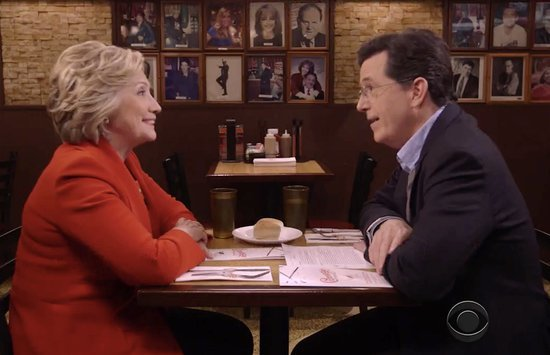 Hillary Gets Big Free Pass From Colbert