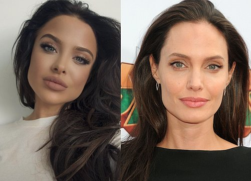 This Gorgeous Model Can Totally Pass for Angelina Jolie's Identical Twin